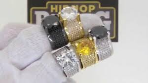 360 solire lab made bling bling ring quality hip hop jewelry
