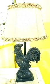 rooster table lamp antique rooster lamp rooster lamp er barrel ceramic french country big vintage antique