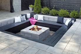 Contemporary Fire Pits Deck Contemporary With Composite Modern Modern Fire Pit