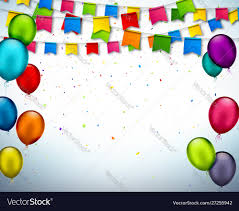 Celebrate Banner Celebrate Banner With Confetti Balloons Flags