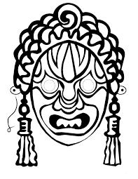 Printable African Masks To Color Tribal Mask Template Printable Mask