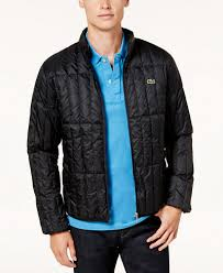 Lacoste Men's Lightweight Packable Quilted Down Jacket - Coats ... & Lacoste Men's Lightweight Packable Quilted Down Jacket Adamdwight.com