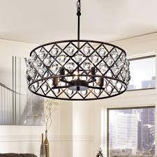 azha 5 light crystal drum chandelier ceiling fixture oil rubbed regarding popular home oil rubbed bronze chandelier with crystals designs