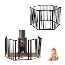 black metal baby child hearth gate fire place room divider safety guard play pen