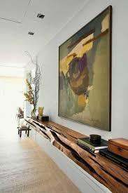rustic wood floating shelf