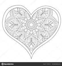 25 Idee Kleurplaten Mandala Hartjes Mandala Kleurplaat Voor