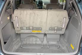 2007 toyota sienna storage well behind the rear seat