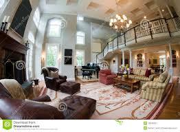 Luxury Living Room Fish Eye View Large Luxury Living Room Royalty Free Stock