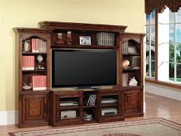 100 inch tv stand.  Inch Athens 4360Inch TV 4 Piece Expendable Premier Wall Unit In Antique Light  Vintage Chocolate  Intended 100 Inch Tv Stand O