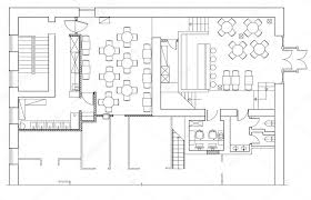 office furniture plans. Standard Office Furniture Symbols On Floor Plans \u2014 Stock Vector S