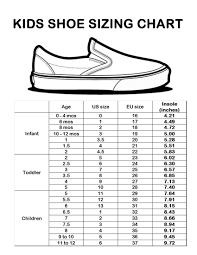 Kids Shoe Size Chart Printable Boys Shoe Size Chart Printable Payless Printable Shoe Size Chart