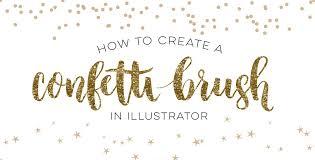 Confetti Brush Photoshop How To Create A Confetti Brush In Illustrator