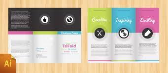 3 column brochure brochure google docs template tri fold design printable trifold