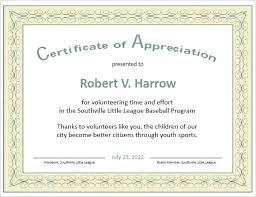 Sample Of Appreciation Certificates Free Certificate Of Appreciation Template Downloads Employee