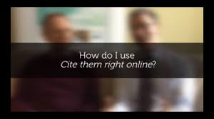 Cite Them Right Online About Cite Them Right
