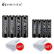 PALO AA Pin Sạc Dự Phòng 3000Mah + 1100Mah Pin Sạc AAA AA 1.2V Nimh AA Pin  Sạc AAA aa 3000 battery aarechargeable battery - AliExpress