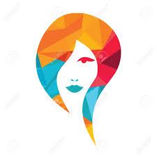 Abstract Design Beautiful Woman Face Logo Design Template Abstract Design Concept