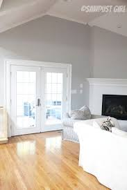 sawdust girl sherwin williams light french grey walls snowfall white trim on interior design grey walls white trim with living room kitchen wall completion colors pinterest sawdust