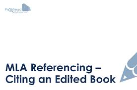 Mla Referencing Citing An Edited Book Proofread My Paper