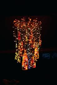 beer bottle chandelier an outdoor chandelier made out of wine and beer bottles great for back