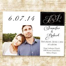 Wedding Announcement Photo Cards Stylish Simple White And Black Photo Wedding Announcements Ewa019 As