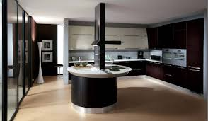 ... Modern Kitchen Design Ideas With Black Wall And Round Table Pictures