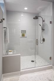 glass shower design.  Shower The Guest Bath Had A Shower Area That Was Dated And Confining A New Frameless  Glass Is Roomier Allows In Natural Light Builtin Bench  And Glass Shower Design E