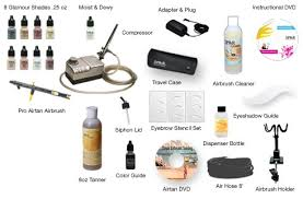 kit includes airbrush makeup and tanning kit