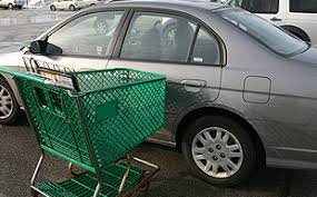 Car insurance covers damage done by shopping cart
