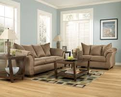 ashley sofa and loveseat. Signature Design By Ashley Darcy - Mocha Contemporary Full Sleeper With Flared Back Pillows   Michael\u0027s Furniture Warehouse Sofas Sofa And Loveseat H