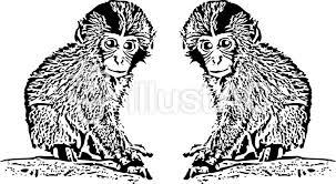 無料イラストフリー素材動物かわいい猿サルイラスト No 322308無料