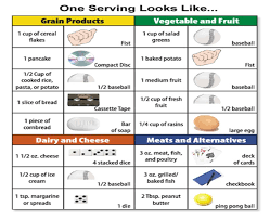 Food Portion Size Chart Portion Sizes Helper Food Portion Sizes Portion Size