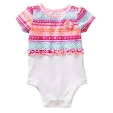 Walmart Baby Girl Clothes Unique Gr Bg Ss Peplum Print Creeper Walmart