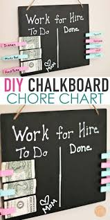 Easy Diy Chalkboard Money For Chores Chart With Video