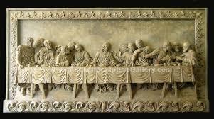 the last supper very large plaque  on large last supper wall art with the last supper sculpture relief plaque da vinci reproduction replica