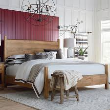 wooden furniture bedroom. Bench*Made Maple Live Edge Panel Bed Wooden Furniture Bedroom C