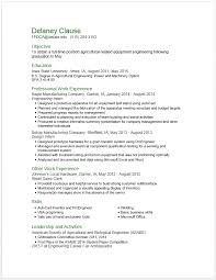 American Resume Custom Example Resumes Engineering Career Services Iowa State University