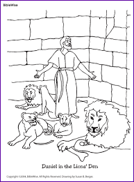 Small Picture Coloring Daniel in the Lions Den Kids Korner BibleWise