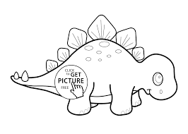 Small Picture Little dinosaur stegosaurus cartoon coloring pages for kids