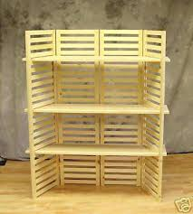 table top display shelves display wood for crafts booths display shelf portable with 3 shelves