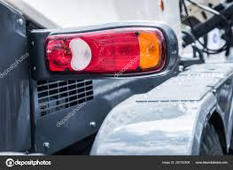 Parking Lights Car Headlights And Parking Lights Of A Truck Stock Photo