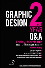 Second Year Graphic Design Program Media Arts Lane
