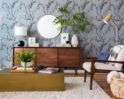 Mid Century Living Room A Neutral Mid Century Living Room Vignette Emily Henderson