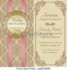 Baroque Wedding Invitations Baroque Wedding Invitation Gold Brown And Beige Antique Baroque