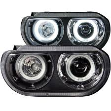 2014 Challenger Lights Anzo 121306 Anzo Usa Dodge Challenger Projector Headlights W Halo Black Ccfl Hid Compatible 2008 2014