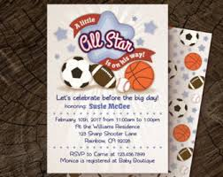 Basketball Baby Shower Decorations  Boy Basketball All Star Baby Shower Invitations Sports Theme