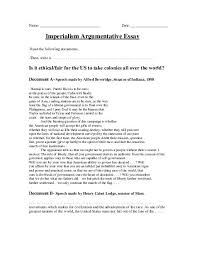 new imperialism thematic essay