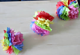Paper Flower Garland How To Make Diy Hanging Tissue Paper Flower Garland Our