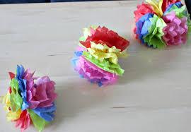 how to make diy hanging tissue paper flower garland our crafty mom creativebloggers tissuepapercrafts