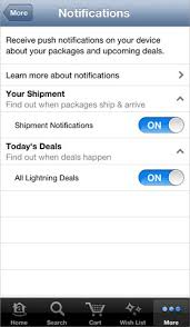 For Updated Amazon Ios App With Alerts Shipping